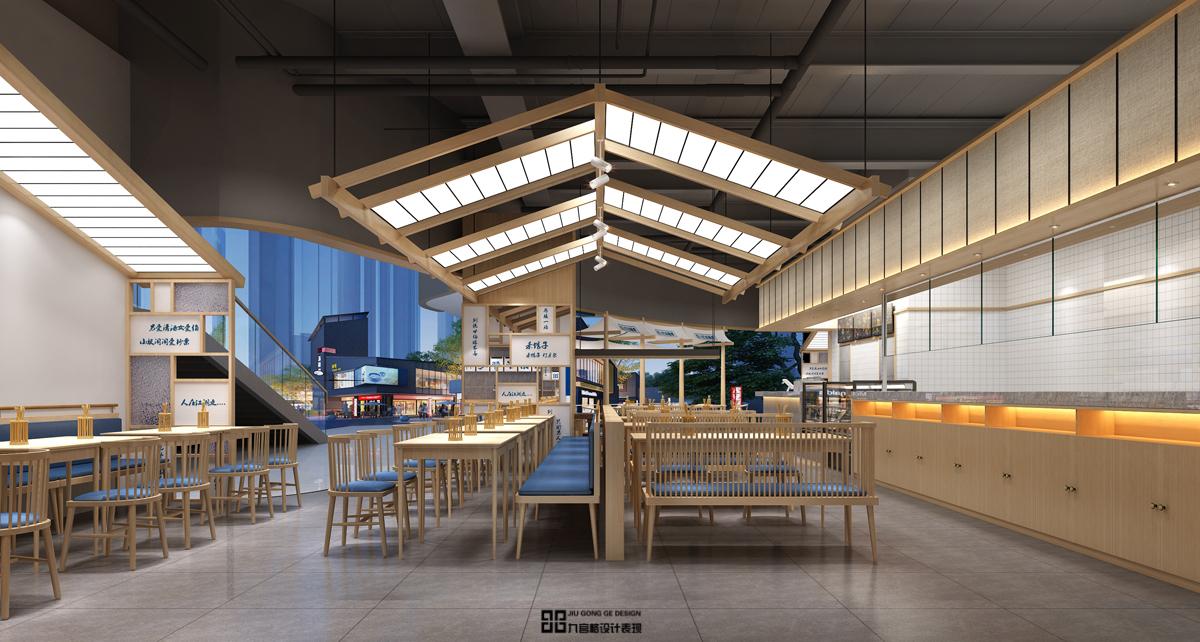 新中式小吃店装修效果图
